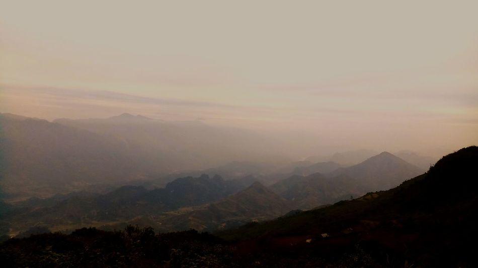 Fog Mountain Nature Landscape Morning Sunset Forest