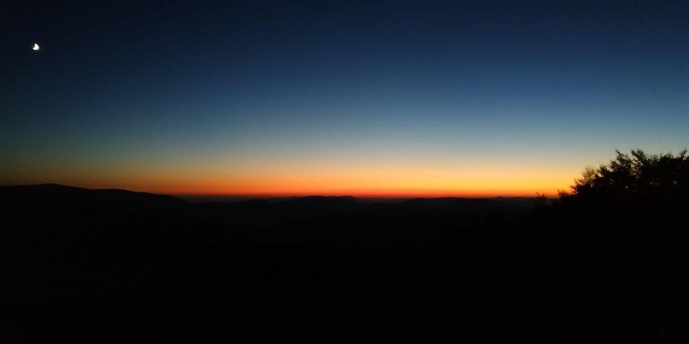 Гори Україна Ukraine Mountains гори карпати Закат Ukraine місяць Sun Astronomy Tree Space Star - Space Clear Sky Sunset Moon Silhouette Blue Sky