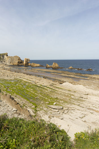 Ancient Ancient Civilization Architecture Arnia Arniabeach Beach Beauty In Nature Cantabria Coast Day Grass Horizon Over Water Landscape Nature Nature No People Outdoors Scenics Sea Sky SPAIN Tranquil Scene Tranquility Water