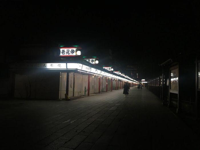 Night Dark Darkness And Light Illuminated Street City Neon Tokyo Senjoji Temple