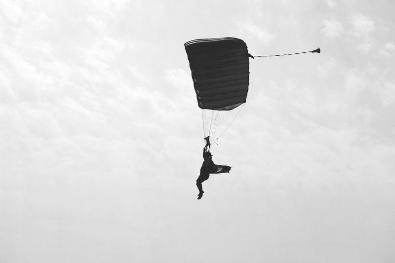 Paraglider in sky