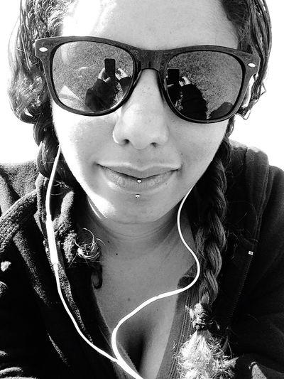 Selfportrait Soaking Up The Sun Blackandwhite