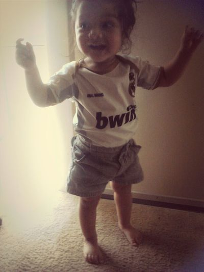 she's soooo excited lol #elclasico #realmadrid #mybbyknowswhatsup <3