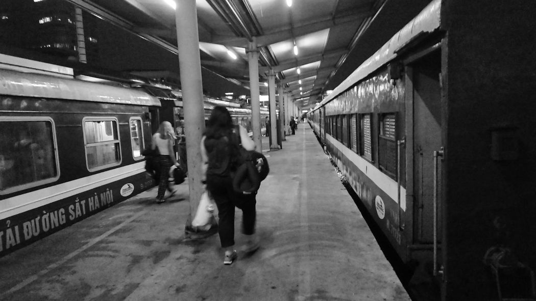 And that's it for Hanoi, all aboard the night train for Sapa! We were yet to realise we would be off it again in the middle of the night as a landslide would block the track! Adult Blackandwhite Illuminated Indoors  Lifestyles Night Nighttrain Passenger Train People Public Transportation Rail Transportation Railroad Station Railroad Station Platform Real People Train - Vehicle Transportation Women Flashpack Be. Ready. Black And White Friday An Eye For Travel Commuter Train Full Length Subway Train Indoors  The Graphic City Mobility In Mega Cities Stories From The City Adventures In The City Focus On The Story