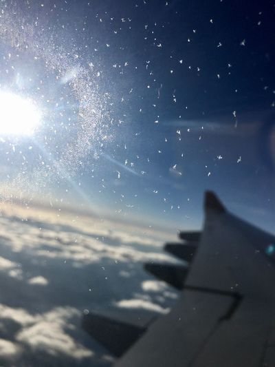 Plane Frozen Window Sun Light Airplane Blue Sky Seeing In The Future Clouds Hope Travel Future Travel Future Plans Frozen Window Be. Ready.