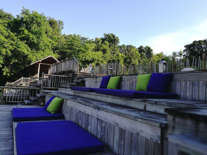 Private outdoor cinema. Blue Tree Sky Water Outdoors Architecture Travel Destinations Day Built Structure Vacations No People Cinema In Your Life Nature Landscape Wood - Material Luxury Hotel Thailand_allshots Destination Resort Beauty In Nature Summer