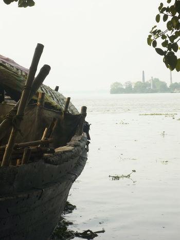 Lonleyness Riverside River Riverbank Riverscape With Boat Riverscape Boat Ganga River Water