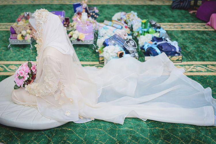 Bride Wedding Dress Wedding Life Events Party - Social Event Celebration Grass Newlywed Ceremony Veil