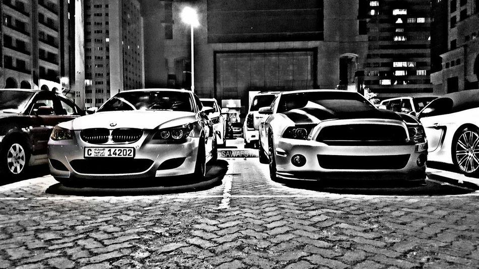 Carporn Car Transportation Mode Of Transport Night Outdoors City Racecar Cars Sportcar Cargasm M5e60 M5 Transportation Bmw Mustang GT