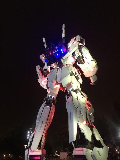 ユニコーンガンダムを背後から。 Gundam
