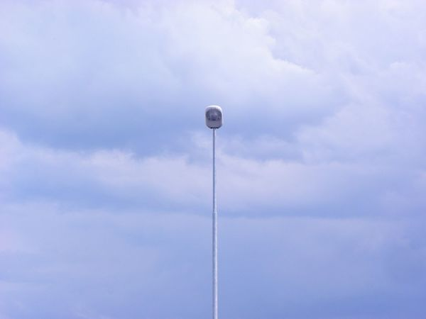 Low Angle View Cloud - Sky Sky No People Day Outdoors Blue Sky Summer Time  Lamp Street Lamp Blue Colour Technology Tall - High Sommergefühle Minimalism Minimalistic