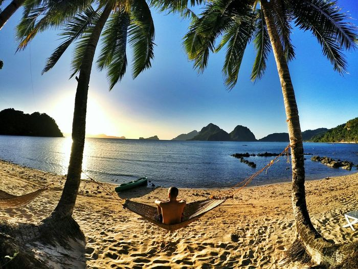 Having great times in my Hammock in ElNido, Philippines. Beach Sun ☀ Sea Relaxing That's Me Hello World Hanging Out Lovemylife Happy Ocean