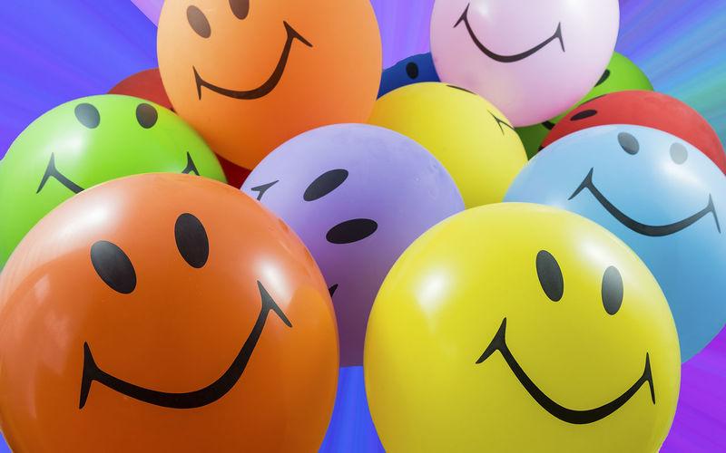 Full frame shot of multi colored balloons