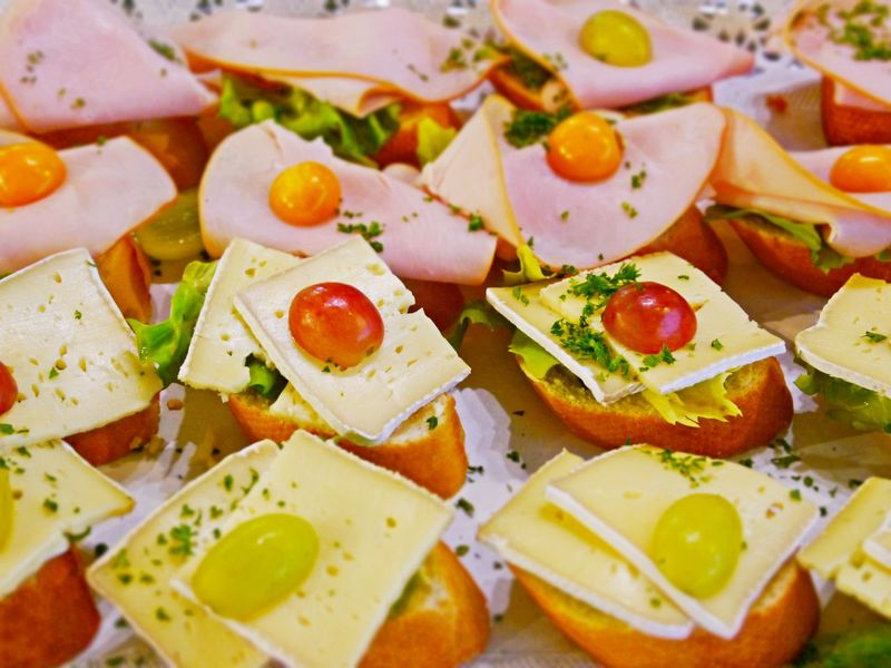 Herbs Appetizers Catering Food Chesse  Close-up Cold Cuts Day Feta Cheese Food Food And Drink Freshness Healthy Eating Indoors  No People Ready-to-eat Salad SLICE Tomato Slices Vegetable