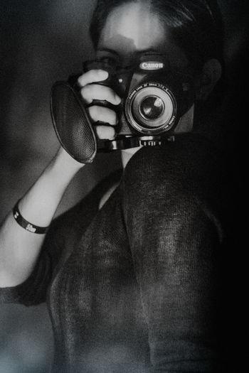Blackandwhite Bw Camera Canon Lifestyles One Person Photographer Selfie