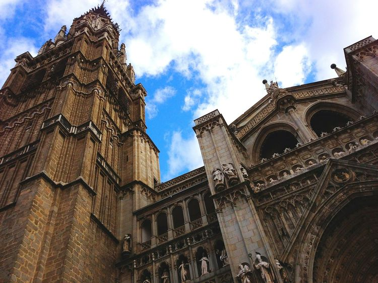 Catedral de Toledo Erasmus Photo Diary Erasmus Architecture Building Exterior Built Structure Sky Low Angle View Travel Destinations History Religion No People Outdoors Tower Cloud - Sky City Day Place Of Worship Rose Window Clock Tower Astronomical Clock Catedral Toledo Spain