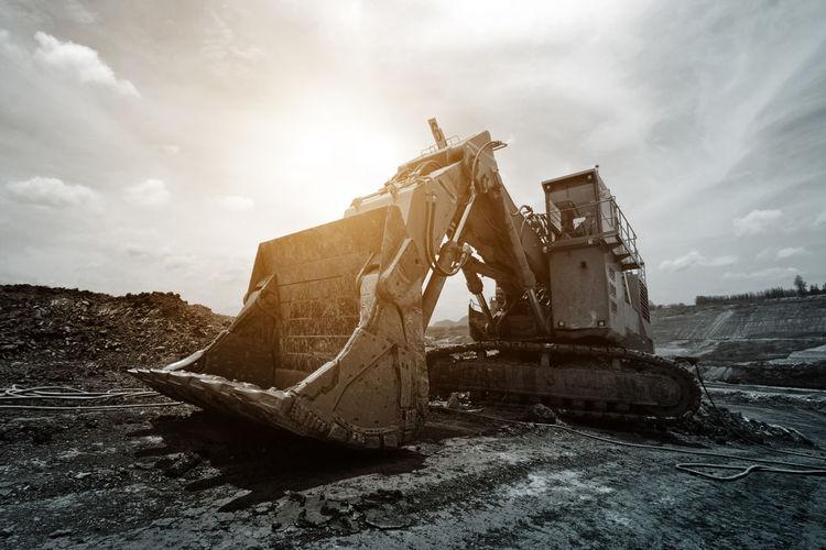 Coal Mine Industrial Industry Coal Coalmine Damaged Mine Nautical Vessel Transportation Truck