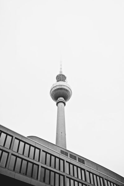 Berlin's TV Tower | VSCO Vscocam Monochrome Alexanderplatz Fujifilm Fuji X100s Tower