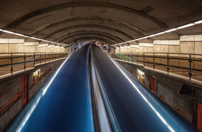 Montreal underground station long exposure 2 trains passing Metro Montréal Architecture Built Structure Canada Illuminated Indoors  Long Exposure Metro Station Train Transportation High Speed Movement Steps And Staircases Railing Speed Subway Station Double Lane Traffic Tunnel Underground Travel Full Frame Full Frame Shot Mobility In Mega Cities