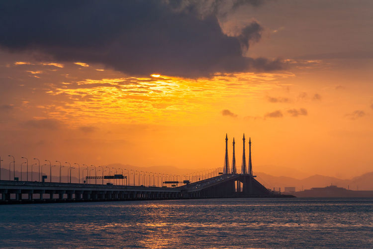 Penang Bridge view during sunrise which located in Straits of Malacca Bridge Penang George George Town George Town Penang George Town, Penang, Malaysia Georgetown Georgetown Penang Penang Penang Bridge Penang Island Penang Malaysia Penang Photography Penang View Penangisland