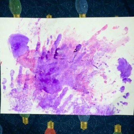 Late Post from My Lovely Son >>> STAMP PALMS Abstract Art Abstractart Painting By My Lovely Son Tio Aditya ( 6 years old) ♥ Don't think it turns out my son is also Gifted to Paint even as young as 6 years old. When Me, his Mom is busy doing with her ArtWork , My Son also was busy with his Drawing Painting ;) ♥ He loves Drawing Painting ♥ He also can Combine Colors :) then He gives this Painting as a Gift for me too :) How Sweet ♥ And this is The Result :) Artistic Expression of Young Children Aged 6 years old named Tio Aditya ♥ :) Always ♥ U My Lovely Son ♥ ;) You are Talented an Young Artist Youngartist ♥ Proudmom ♥ SUPPORT Youngartist Kids Kidsartist ♥ ;)