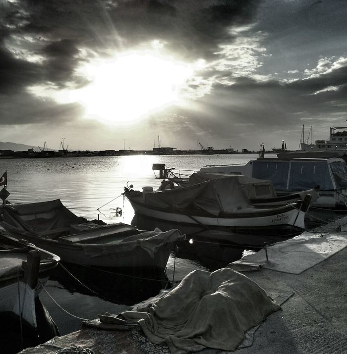 """""""The memory of you emerges from the night around me, The river mingles its stubborn lament with the sea..."""" (Pablo Neruda, A Song of Despair ).The Calmness Within Getting Inspired Monochrome Nightfall izmir karsiyaka bostanli iskele"""