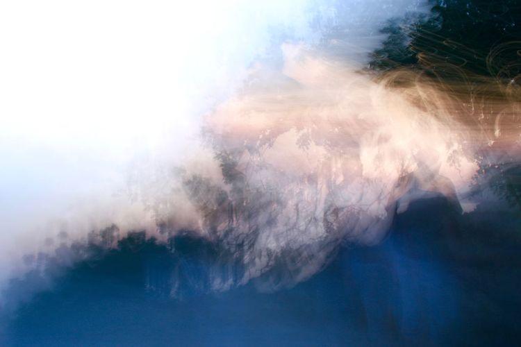 Panoramic view of smoke against sky