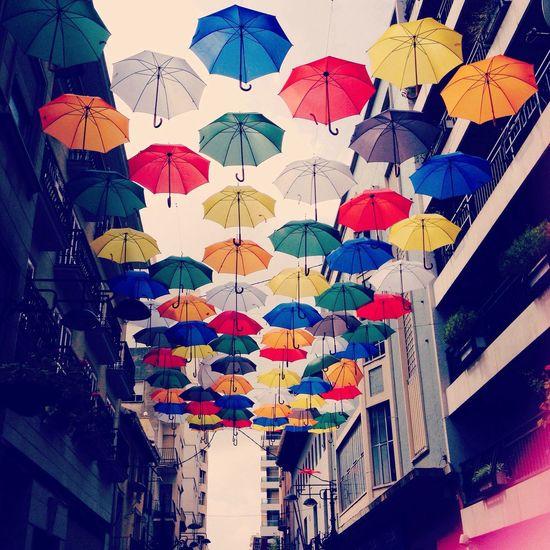 Colorfull umbrellas ?