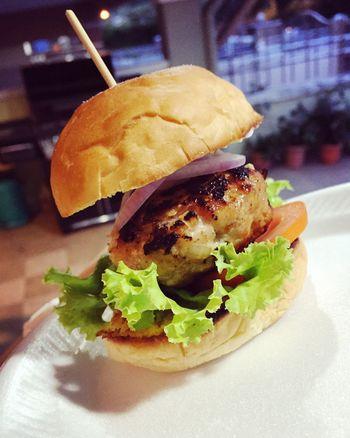 Homemade mini burger🍔😋 Burger MiniBurger Potluckdinner Bbq Night Pork Delicious