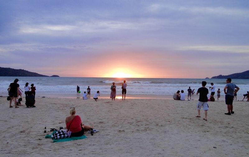 sunset on the beach Traveling Landscape_photography Streetphotography Peoplephotography Sunset Beachphotography Taking Photos People Watching Enjoying Life