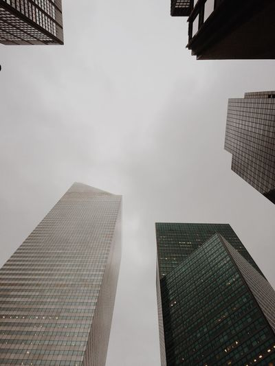 New York NYC New York City Lookingup City Sky Clouds Cloudy Buildings Architecture Cityscapes Overcast Reflection