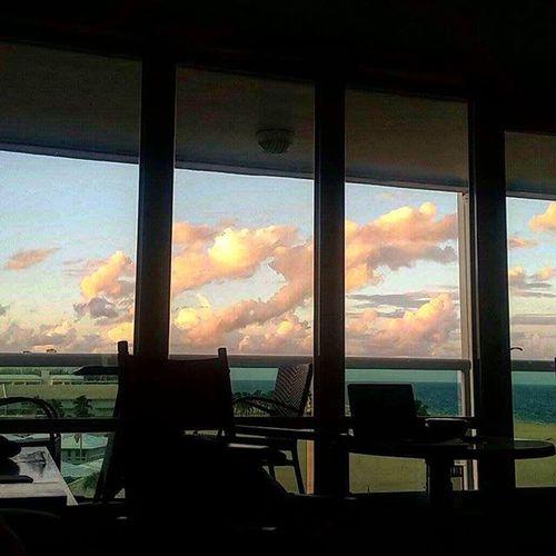 Clouds of orange smoke! 🏡👻🌅 Halloweencolors SoFlo AnotherDay Florida Home