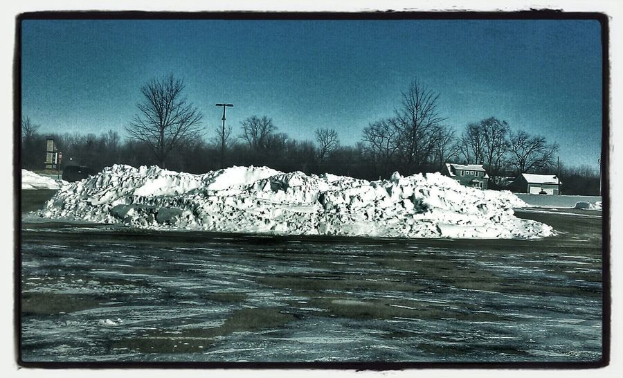Big Truck Parking Space. Snapseed Snow ❄ Parking Lot Art Ice