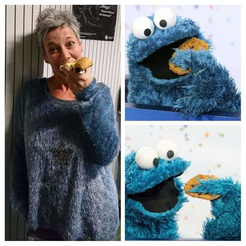 Only for fun 😂 Cookie Monster  Brother From Another Mother Fun Only For Fun Knitting Needle