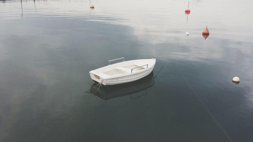 Alone Little Boat Walking Around Relaxing