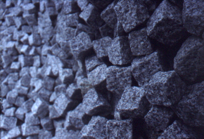 Pflasterwand Backgrounds Blau Close-up Crumpled Day Haufen No People Pflastersteine Steine Steinhaufen Textured