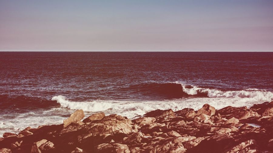 Faded, hazy nostalgia. Sea Horizon Over Water Nature Wave Beauty In Nature Water Clear Sky Beach Scenics Shore No People Outdoors Sky Tranquility Tranquil Scene Day