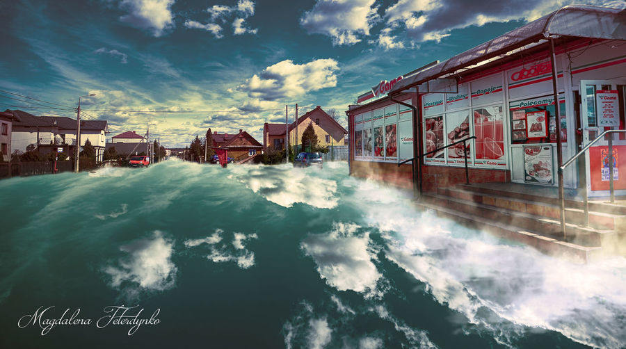 Architecture Beauty In Nature Building Building Exterior Built Structure Canal City Cloud Cloud - Sky Cloudy Day EyeEm Best Shots EyeEm Gallery Magdalena Teterdynko Nature Outdoors Photoshop Residential Building Residential District Residential Structure Scenics Sky Water Weather