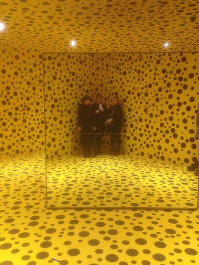 Color Palette Louisiana Museum Modern Art Yayoi Kusama Art Installation Yellow Dots
