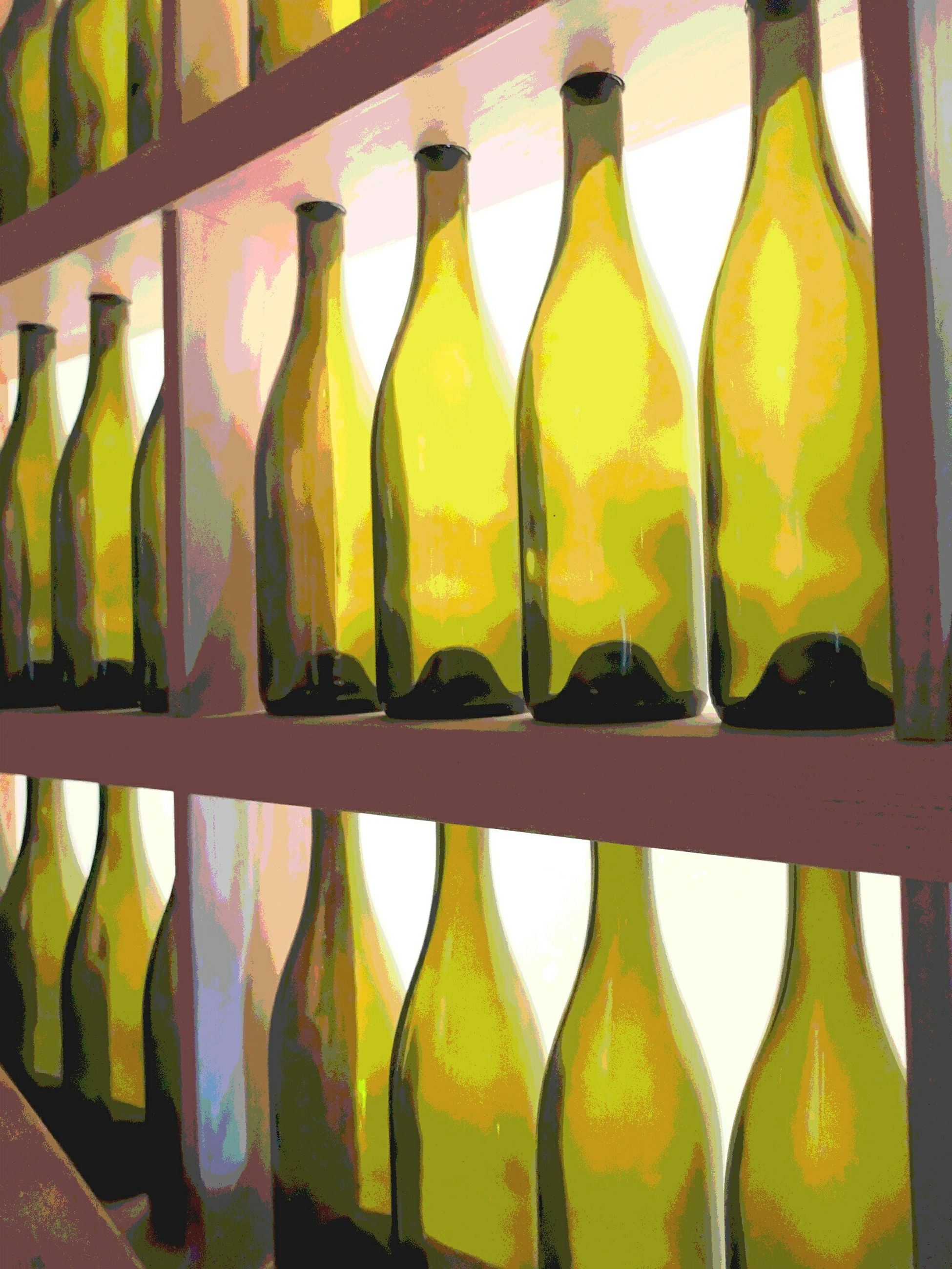 bottle, yellow, in a row, multi colored, close-up, variation, food and drink, no people, healthy eating, indoors, day, freshness