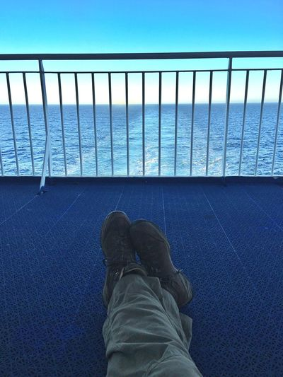 Ferry View Atlantic Ocean Legs Shoes Iceland116