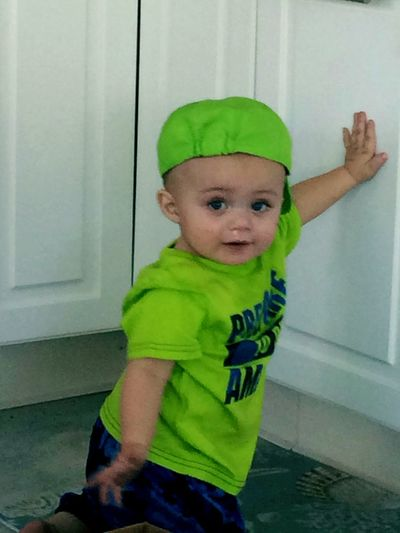 Baby Childhood Babies Only One Person People Green Color Lifestyles Portrait Child Human Body Part Indoors  Day Funphotography Myfirstbabyboy Enjoying Life Leisure Activity Itswhatido Children Only Babyboy Baby ❤ Babyphotography Adult