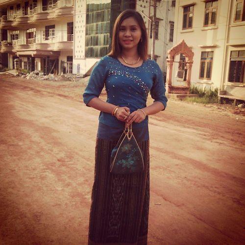 Today at Monastery 🙏🙏🙏 Myanmar Burma Traditional_dress Monastery Donaations Mtc
