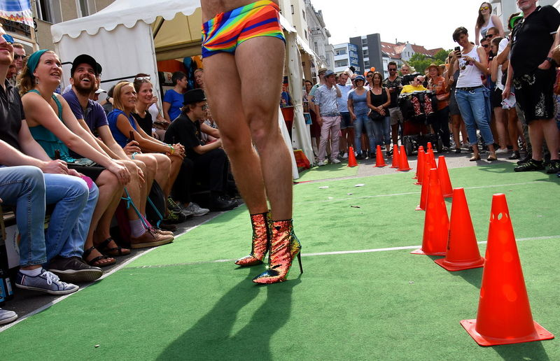 Schwules-Lesbisches-Straßenfest Humid Gayboy Gay Gaymen Shoes Fashion Shoes Swimming Trunks Fashion Coulors Schwules-Lesbisches-Straßenfest Manequin Mannequin Portrait Fashion Model Fashion Show Lesbian Berlin Photography CSD Coulorful Love Is Love Crowd Women Politics And Government Men The Photojournalist - 2018 EyeEm Awards #urbanana: The Urban Playground Urban Fashion Jungle Summer In The City 2018 In One Photograph