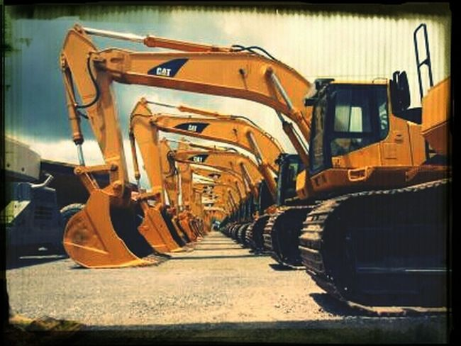 At Work Excavators Construction Lifestyle