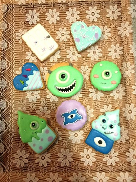 20150926 took me all the afternoon lol Monstersuniversity Handmade Icing Cookies All Afternoon