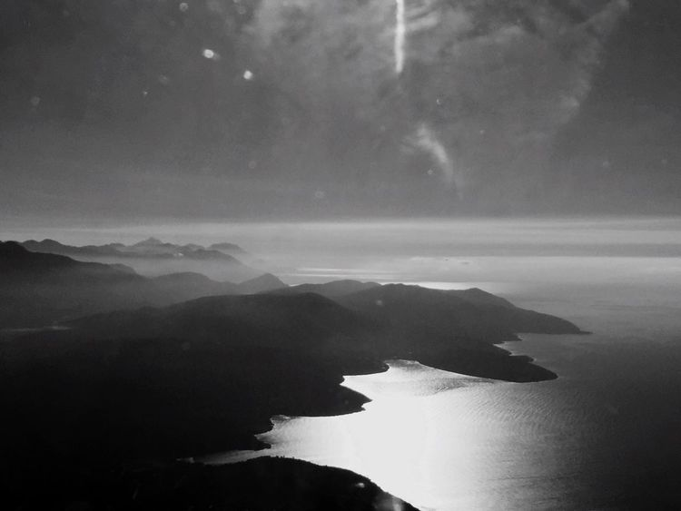 Над Черногорией Тиват Черногория Море горы чернобелое черно-белое Залив Montenegro Beaytiful Montenegro2015 Beauty Of Montenegro Bleck & White Blackandwhite Mountains See A Bird's Eye View