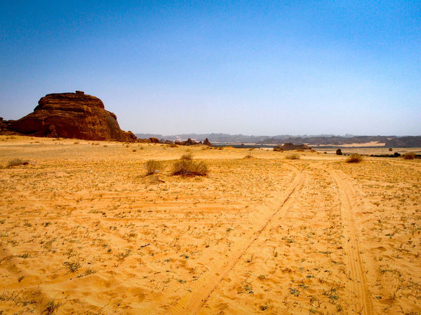 Adventure Beauty In Nature Check This Out Clear Sky Desert Desert Beauty Desert Landscape Deserted Eyeemphoto Eyeemphotography Horizon In Der Wüste No People Non-urban Scene Outdoors Rock Formation Sand Saudi Arabia Traces In The Sand Tranquil Scene Tranquility Travel Destinations Vision Way Forward Wüste