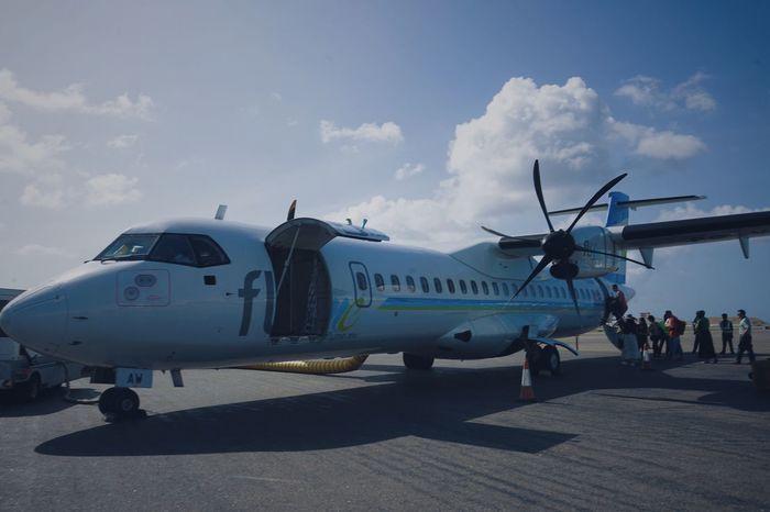 Airplane Air Vehicle Sky Day Transportation Cloud - Sky Outdoors Men Airport Runway Real People People Maledives Dubaiairport Subway Train