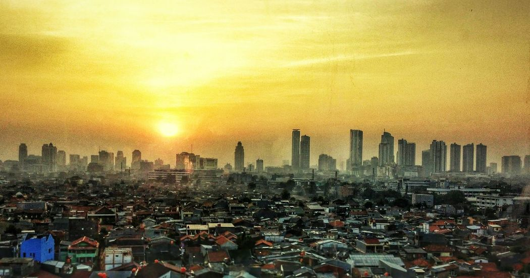 Morning Jakarta. Sightseeing Landscape View City Cityscapes